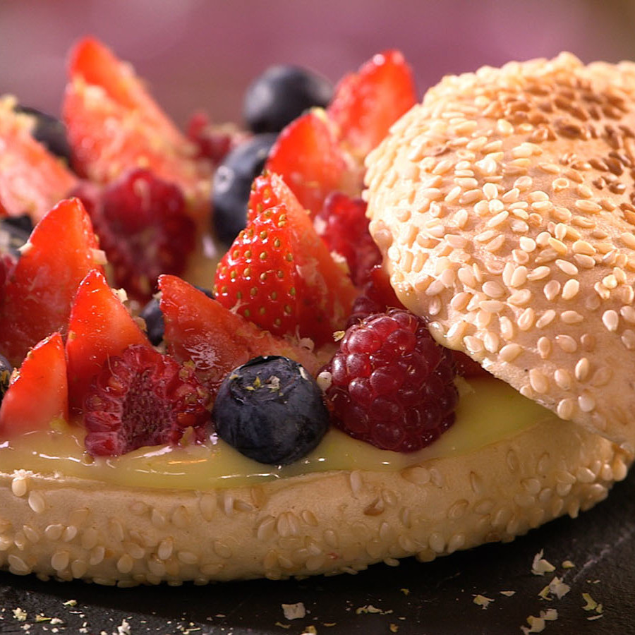 Bagel Fruits Rouges recette Carinne Teyssandier
