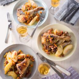 recette fricassée de canard aux pommes carinne teyssandier