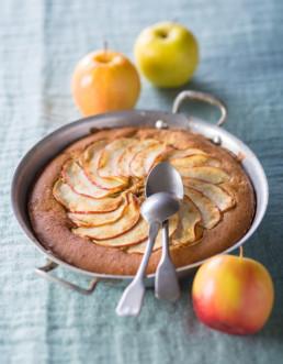 Recette Gâteau pomme-mascarpone Carinne Teyssandier