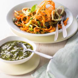 recette Légumes spaghettis carinne teyssandier