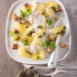 recette Aile de raie citron et câpres carinne teyssandier