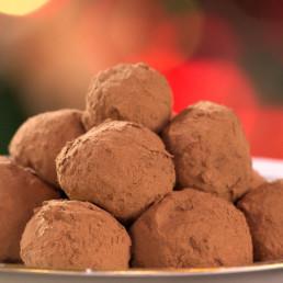 Recette truffes au chocolat Carinne Teyssandier