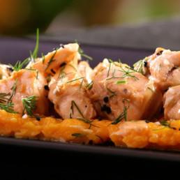 Recette saumon aux agrumes Carinne Teyssandier