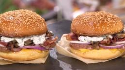Burger au saucisson - Carinne Teyssandier
