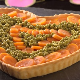 Recette coeur de tarte salée - Carinne Teyssandier